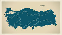 Turkey Modern Map von Ingo Menhard