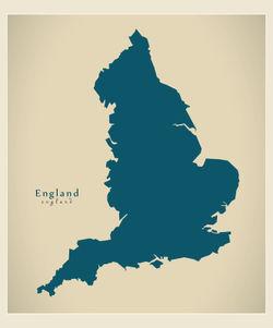 Modern-map-uk-england