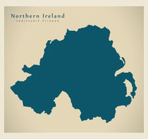 Northern Ireland Modern Map by Ingo Menhard