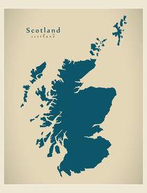 Scotland Modern Map by Ingo Menhard