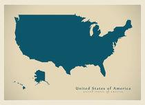 USA Modern Map by Ingo Menhard