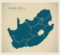 South Africa Modern Map by Ingo Menhard