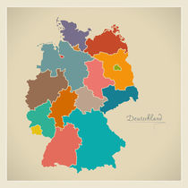 Germany Map Artwork von Ingo Menhard