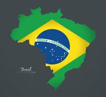 Brazil Map Artwork Special Edition von Ingo Menhard