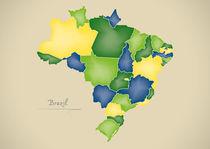 Brazil Map Artwork von Ingo Menhard