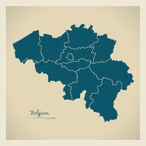 Belgium Map Artwork by Ingo Menhard