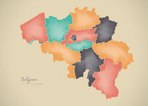 Belgium Map Artwork von Ingo Menhard