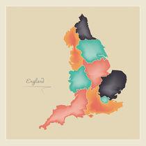England Map Artwork by Ingo Menhard
