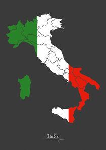 Italy Map Artwork von Ingo Menhard