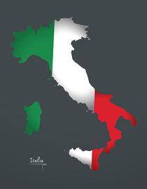 Italy Map Artwork Special Edition von Ingo Menhard