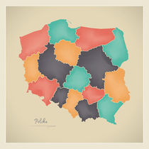 Poland Map Artwork by Ingo Menhard