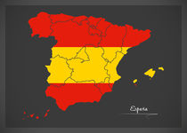 Spain Map Artwork by Ingo Menhard