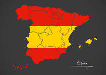 Spain Map Artwork von Ingo Menhard
