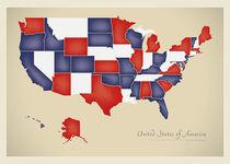 USA Map Artwork by Ingo Menhard