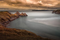 Tranquil Three Cliffs Bay by Leighton Collins