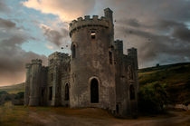 Clifden Castle At The Sunset by Jarek Blaminsky