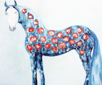 Horse with apples by Elisaveta Sivas