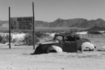 Solitaire Namibia Abandoned car by kytefoto