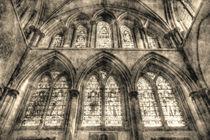 Rochester Cathedral Stained Glass Windows Vintage von David Pyatt