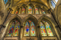 Rochester Cathedral Stained Glass Windows Art by David Pyatt