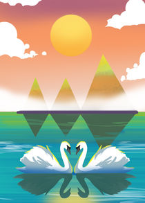 Love Swans by Sunny Seth