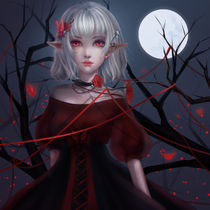 vampire Little Witch by Henela White
