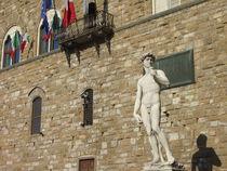 Michelangelos David vor dem Palazzo Vecchio, Florenz