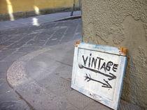 Vintage Schild, Florenz  by Steffanie Reimann