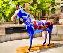 Blue Fiberglass Horse von lanjee chee