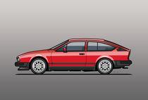 Alfa Romeo GTV6 Red von monkeycrisisonmars
