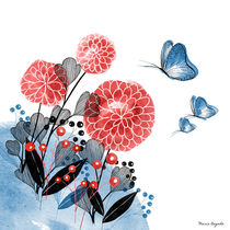 Flowers and Butterflies von Maria Bogade