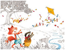 Kite and Fox von Maria Bogade