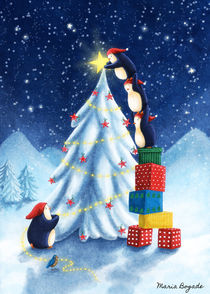 Christmas Tree for Penguins von Maria Bogade