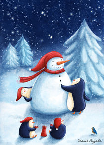 Snowman from the Penguins by Maria Bogade