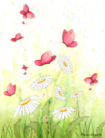 Flowers & Butterflies 4 by Maria Bogade