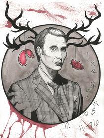 Hannibal Lecter (Mads Mikkelsen) by Luiz Rosa