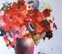 Flowers in Vase by terrydonnelly