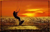 Kitesurfer im Sonnenuntergang von Clemens Greiner