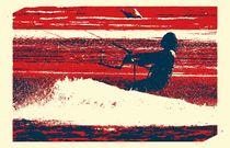 Kitesurfer im Abendrot von Clemens Greiner