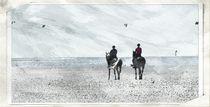 Reiter am Strand von Clemens Greiner