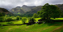 Rain clouds over the Langdale Pikes by chris-drabble