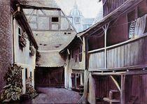 Naumburg - Alter Hinterhof  by Doris Seifert
