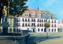 Naumburg - Rathaus mit Wenzelsbrunnen von Doris Seifert
