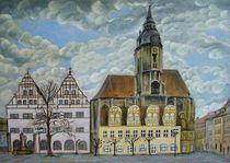 Naumburg - Wenzelskirche mit Schlösschen von Doris Seifert
