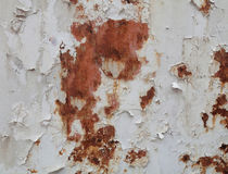 Flaking paint rusty metal by Leighton Collins
