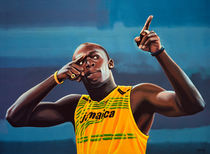 Usain Bolt Painting von Paul Meijering