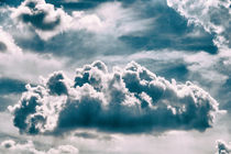 White Cumulus Clouds On Blue Sky by Radu Bercan