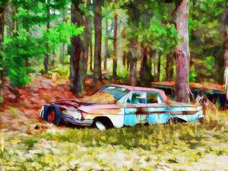 Abandoned-classic-car