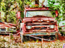 Old tow truck  by lanjee chee