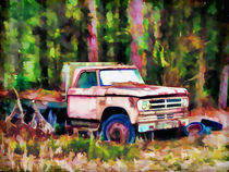 Old rusty truck by lanjee chee